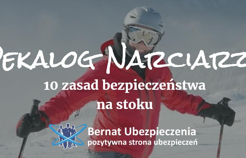 bezpieczeństwo na stoku dekalog narciarza