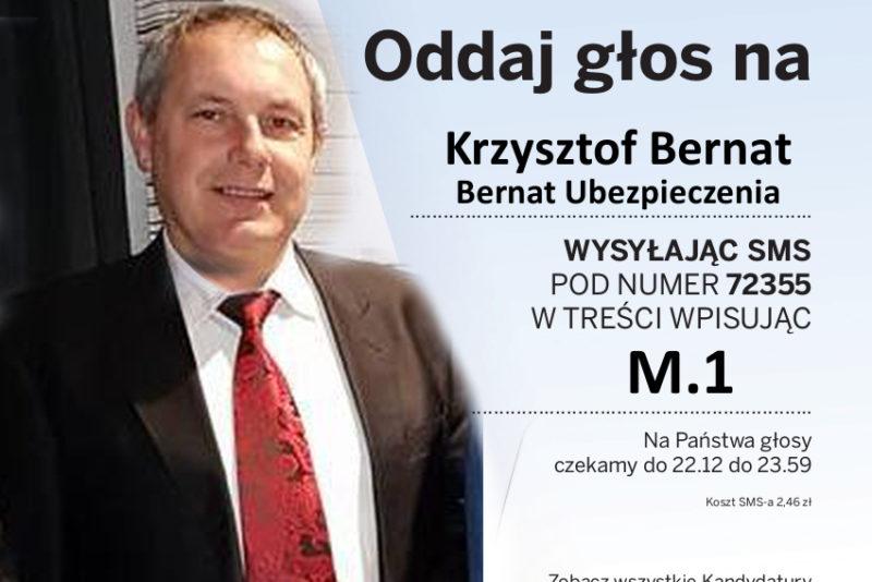 Bernat Ubezpieczenia Inowrocław głosowanie - plakat - Menedżer Roku2